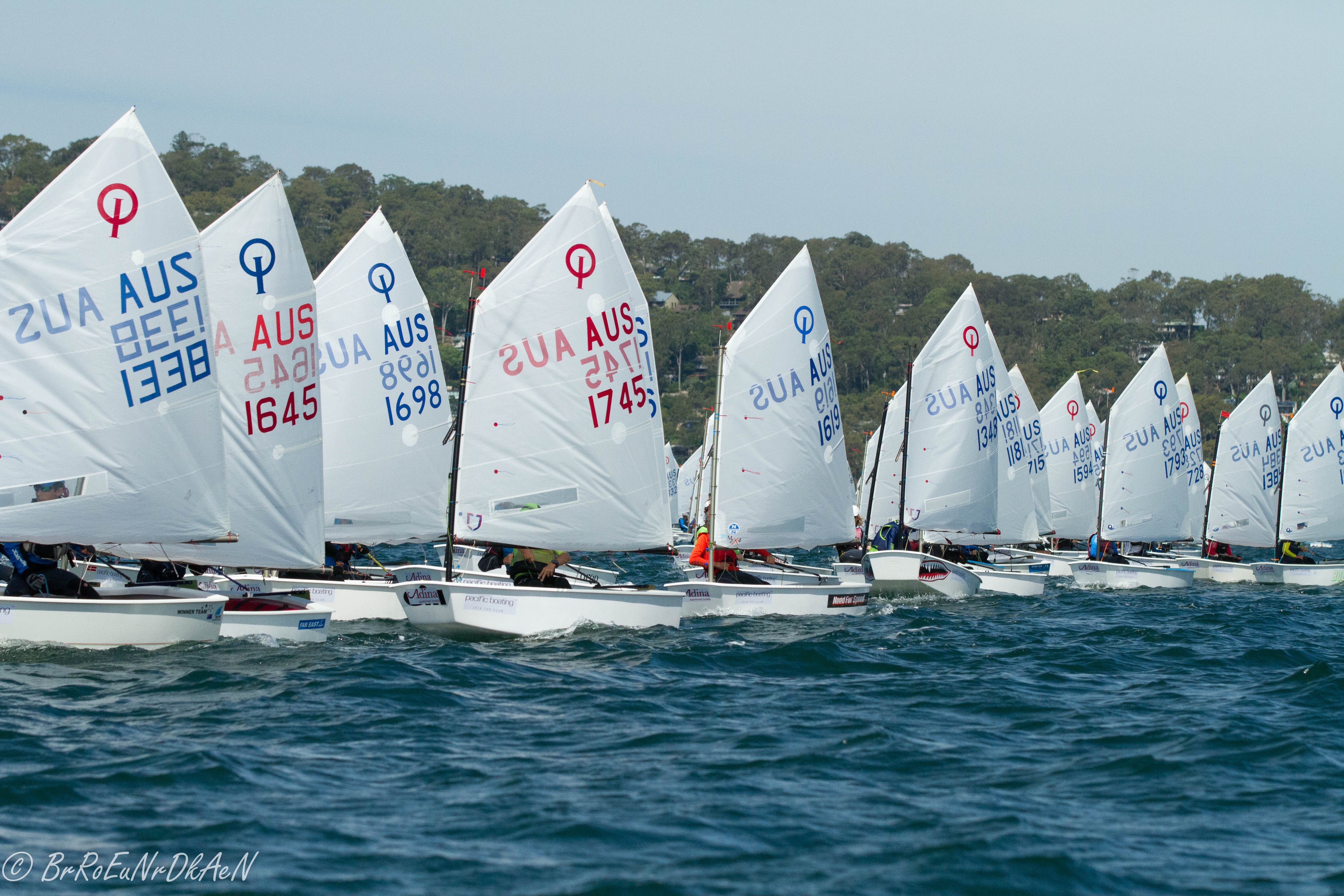 2018 Pacific Boating NSW & Open Optimist Class Championship - Credit Brendan Rourke